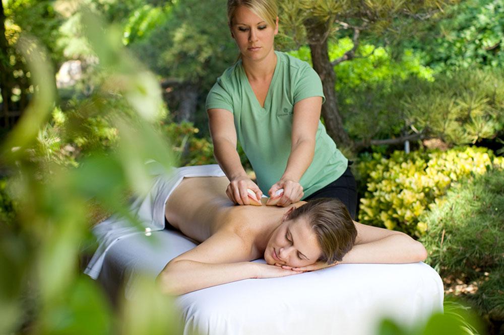 Specialty massage at the Golden Door in Escondido, California