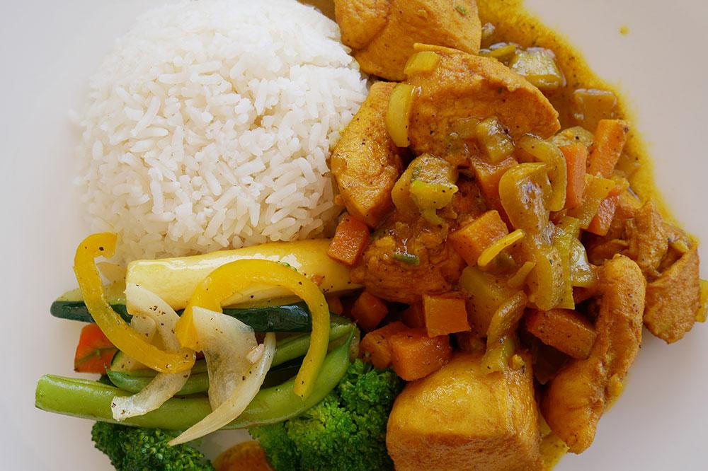 Chicken curry from Bizot Bar at GoldenEye