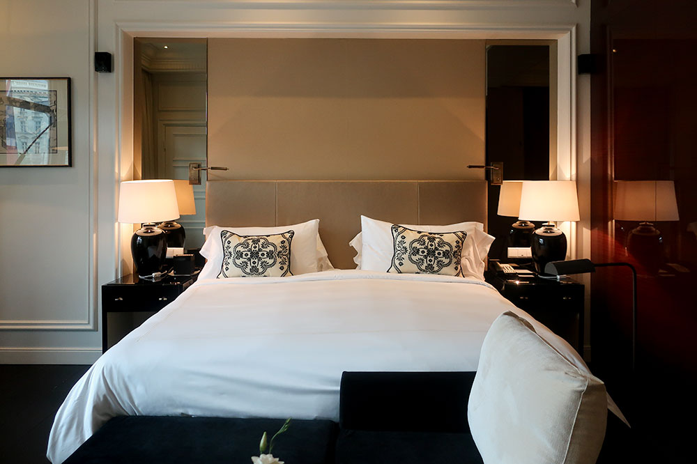 A Grand Deluxe Room at Hotel Bristol in Vienna