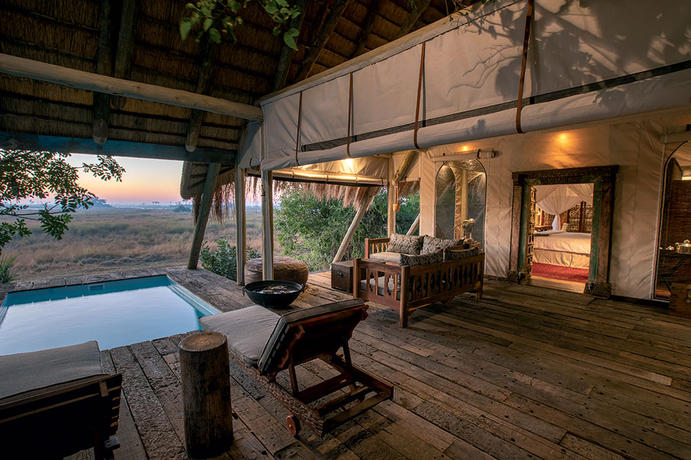 Room deck at Selinda Camp