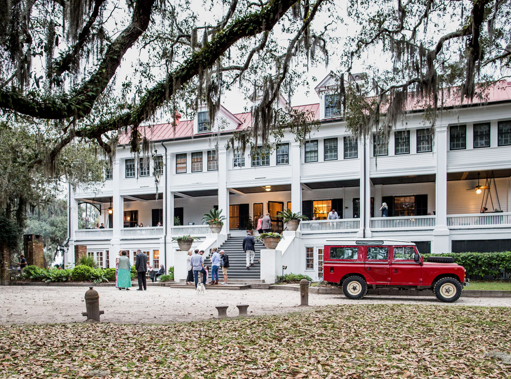 Guests arriving at Greyfield Inn, an old Carnegie mansion on Georgia's Cumberland Island