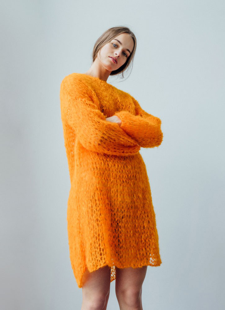 Følva orange dress at Guðrun & Guðrun