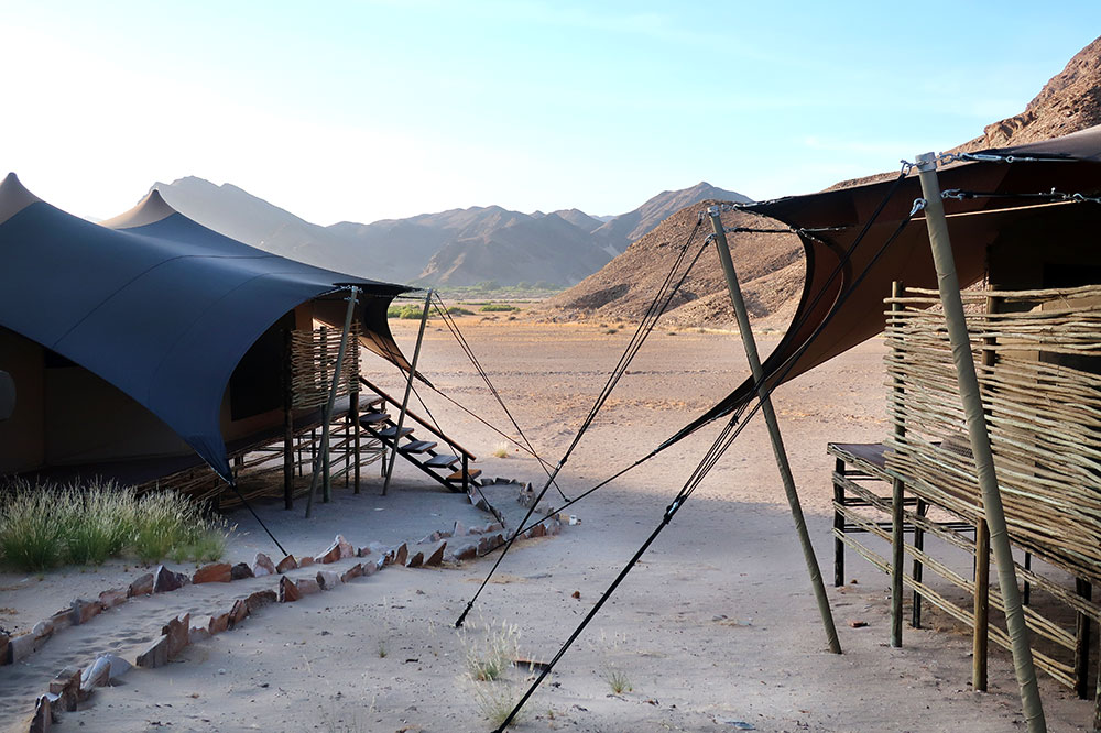 Guest tents at Hoanib Valley Camp