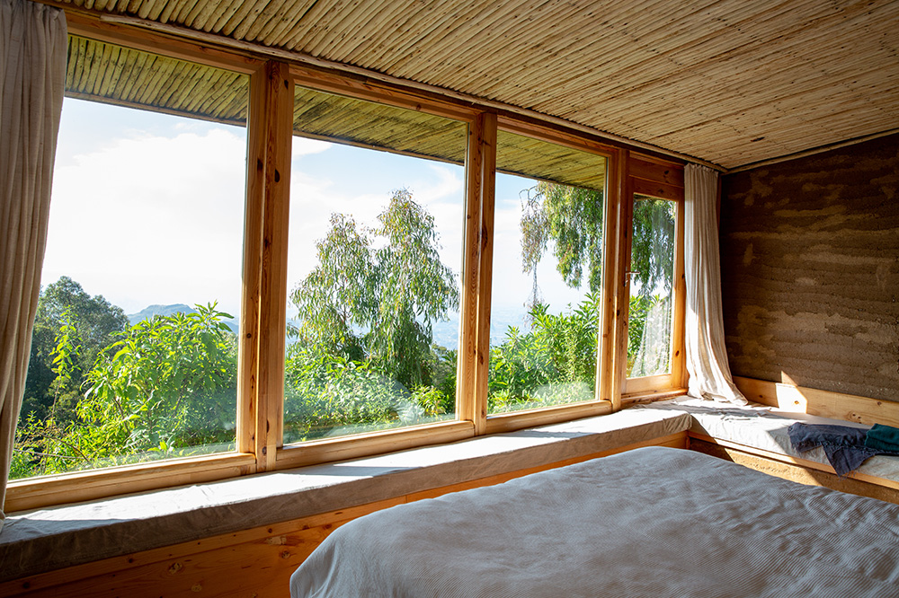 Guestroom with view of Simien Mountains National Park from Limalimo Lodge