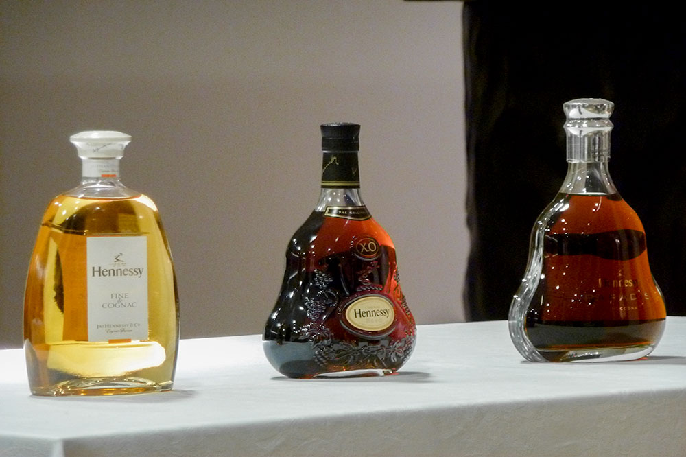 Display of Hennessy at the Hennessy headquarters