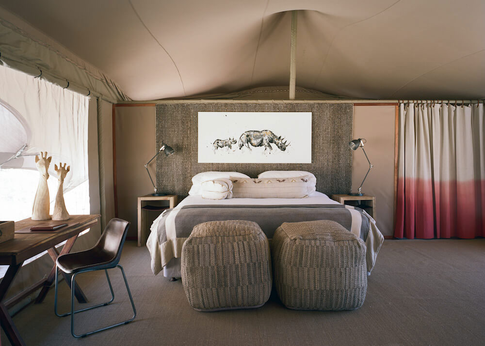 A double room at Hoanib Valley Camp