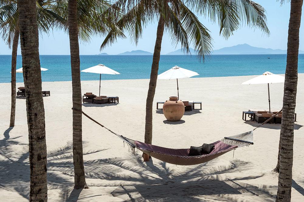 The beach at Four Seasons Resort The Nam Hai