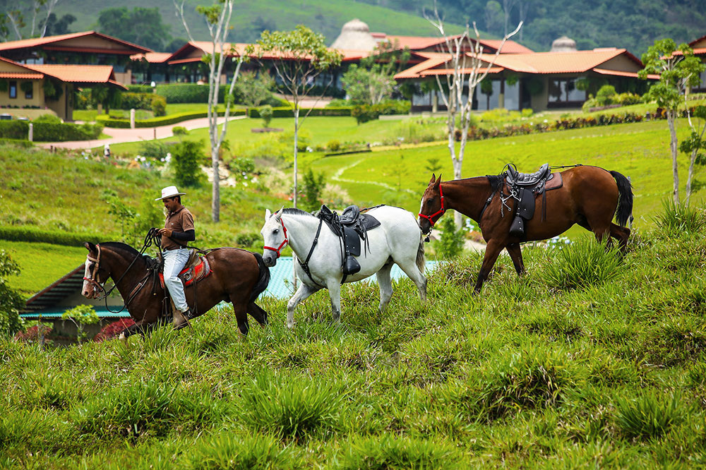 Horseback riding at Hacienda AltaGracia