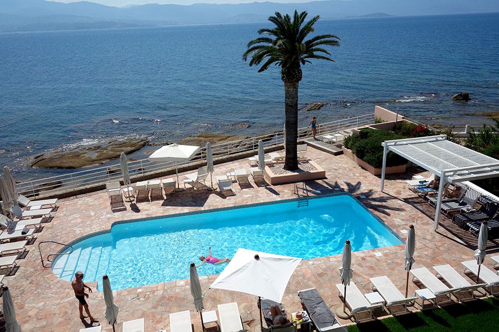 The pool at Hôtel Les Mouettes