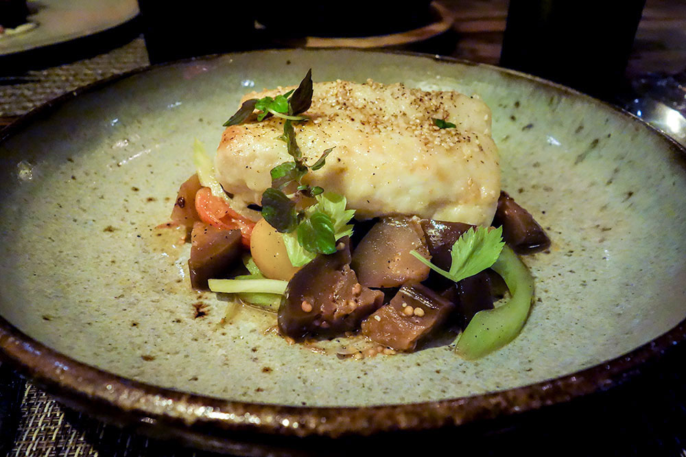 Grouper with heirloom tomatoes at Husk in Savannah