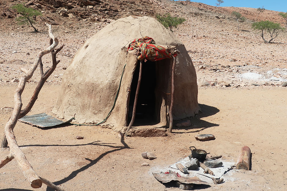 A hut at the Himba village we visited