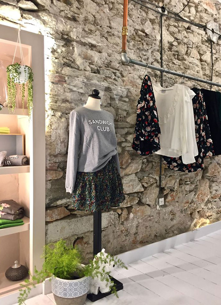 Clothing in the Melissa store in Parikia, Paros