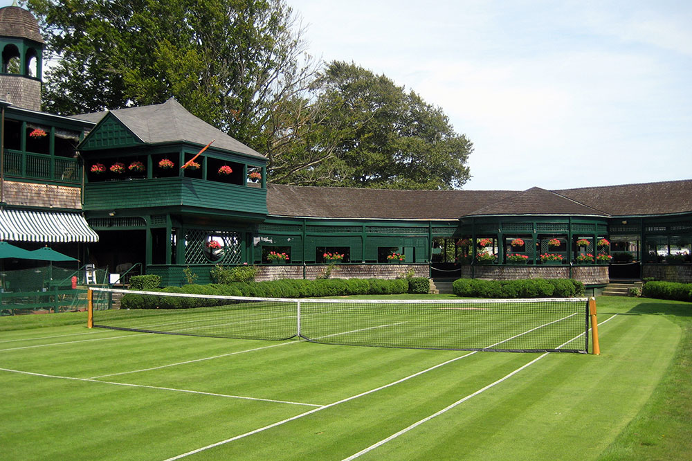 Grass courts at the International Tennis Hall of Fame