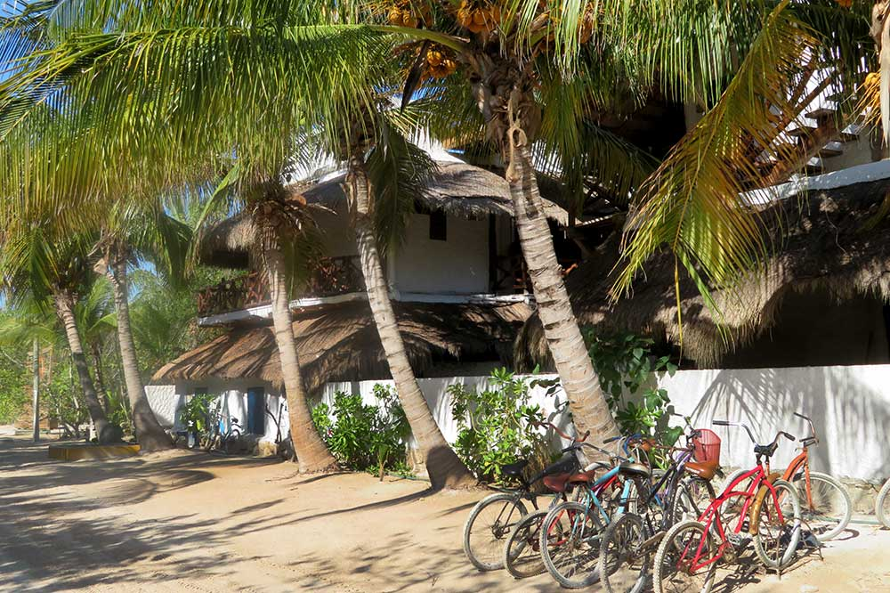 Bikes for guests at Las Nubes de Holbox