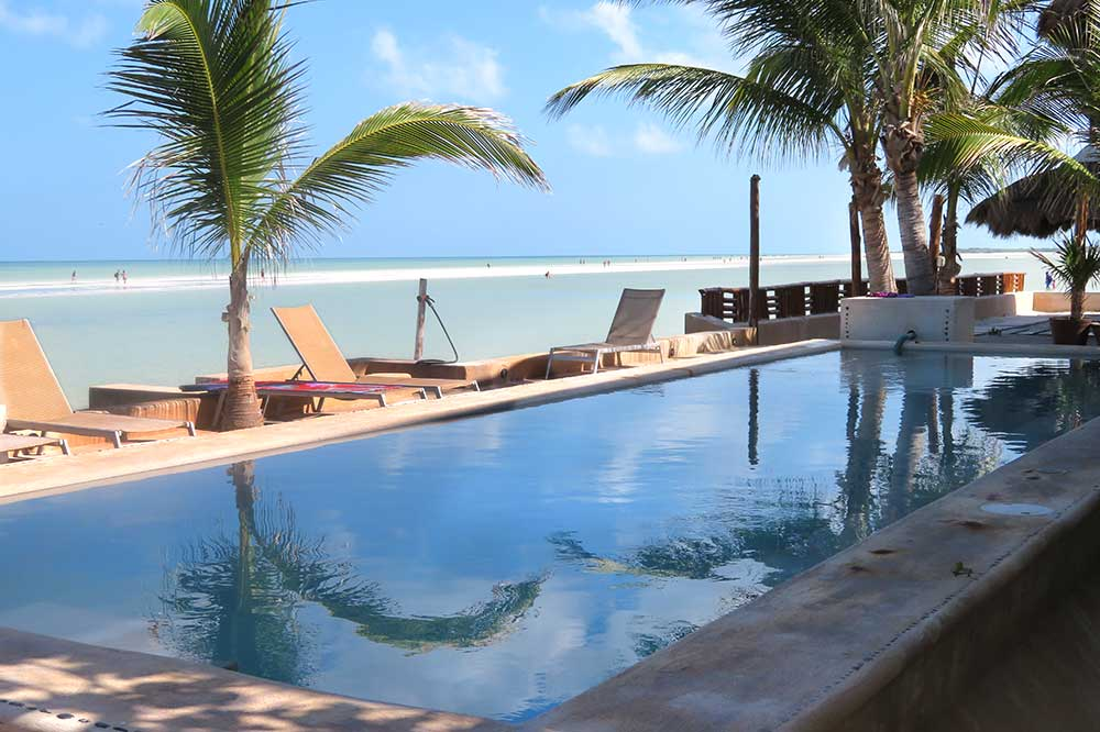 The pool at Las Nubes de Holbox in Isla Holbox, Mexico