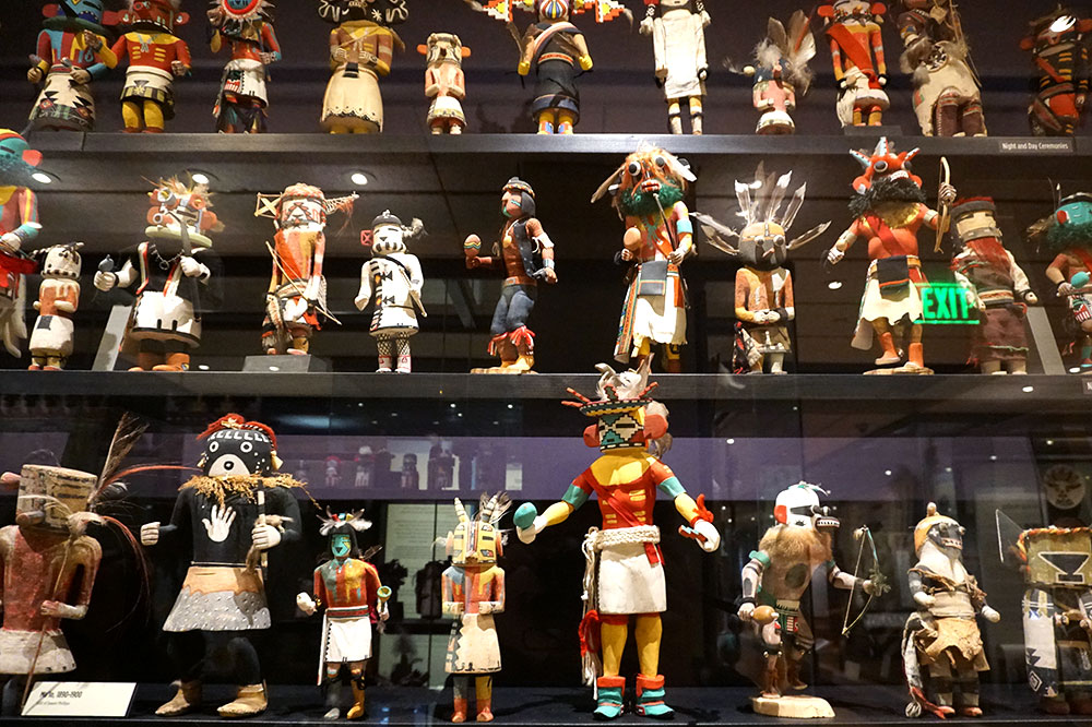 Kachina dolls on display at the Heard Museum in Phoenix