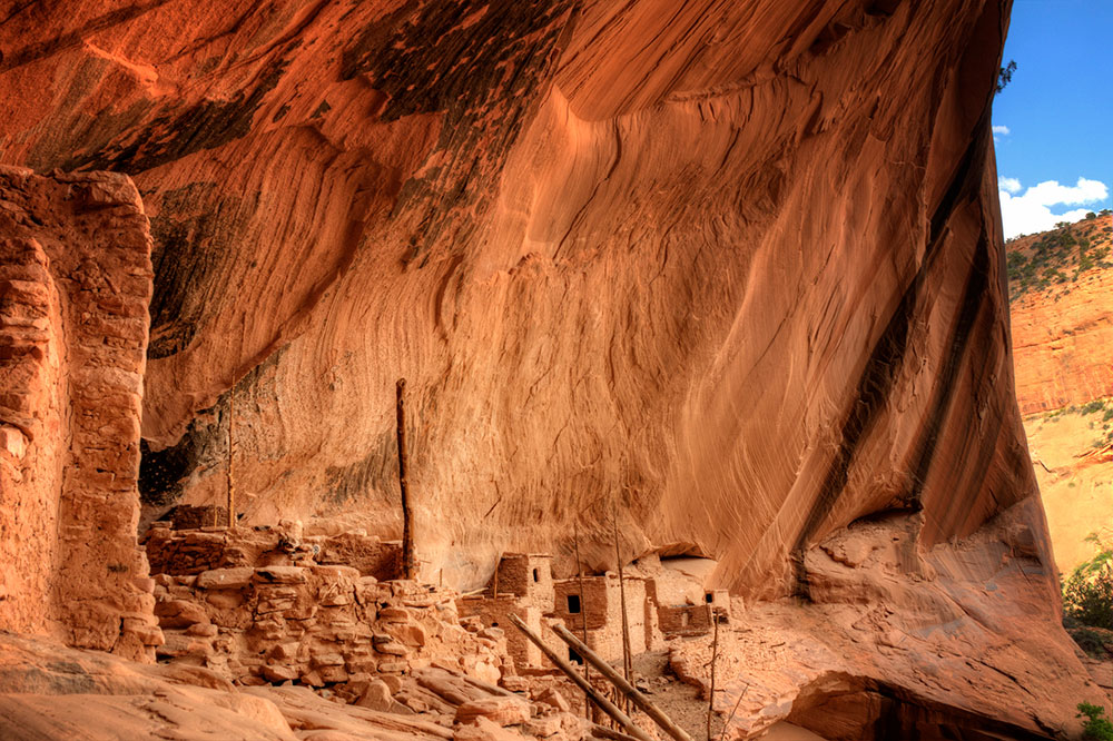 The Keet Seel dwelling at the Navajo National Monument in Shonto