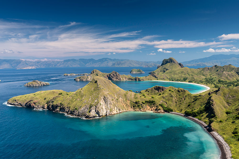 Aerial view of Komodo National Park