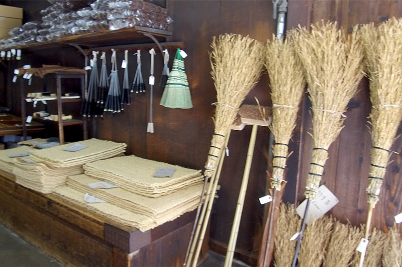 Brushes and brooms on display at the historic Naito Shoten - Photo by Hideaway Report editor