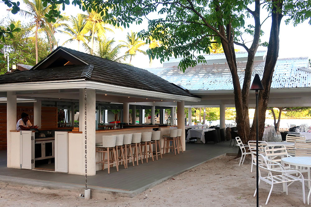 The Beach Club bar at Calabash Luxury Boutique Hotel
