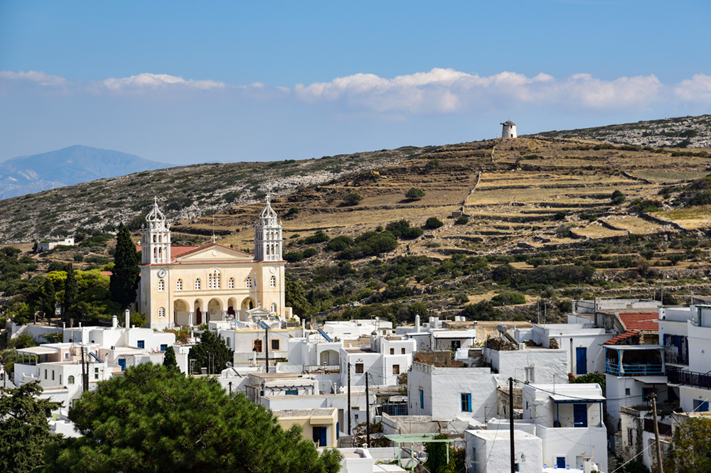 The village of Lefkes on Paros, Greece