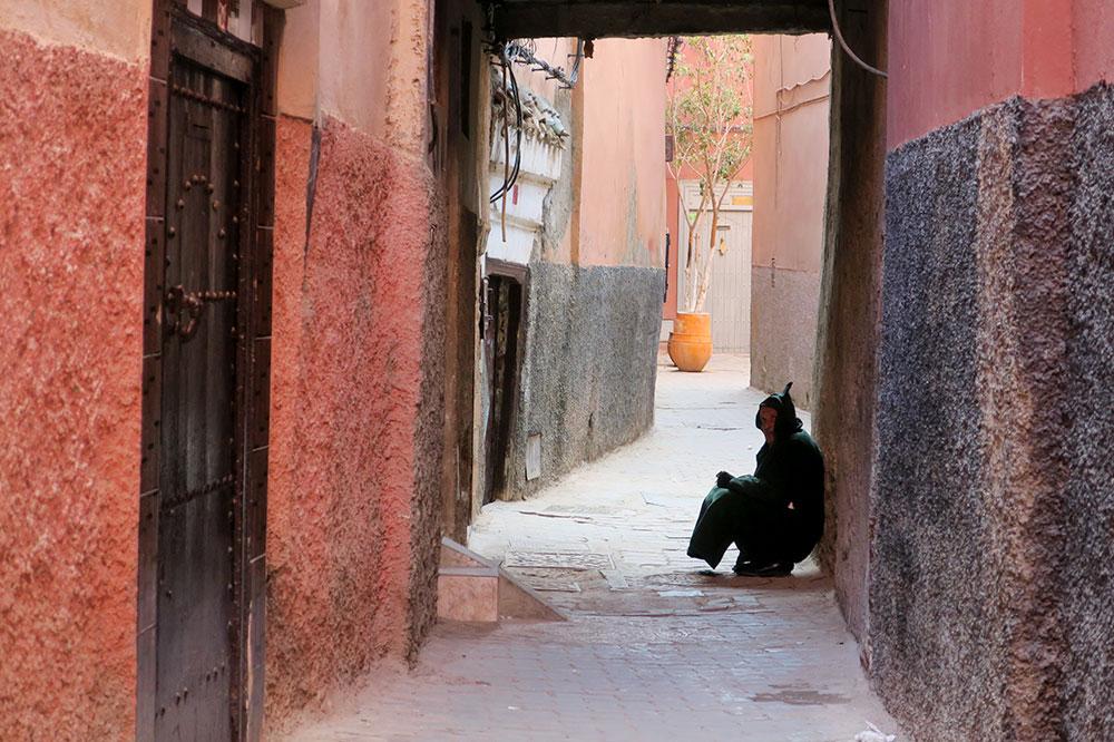 An alley near L'Hotel in Marrakech, Morocco