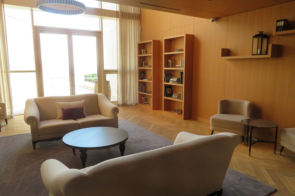 The library at the Royal Champagne Hotel & Spa