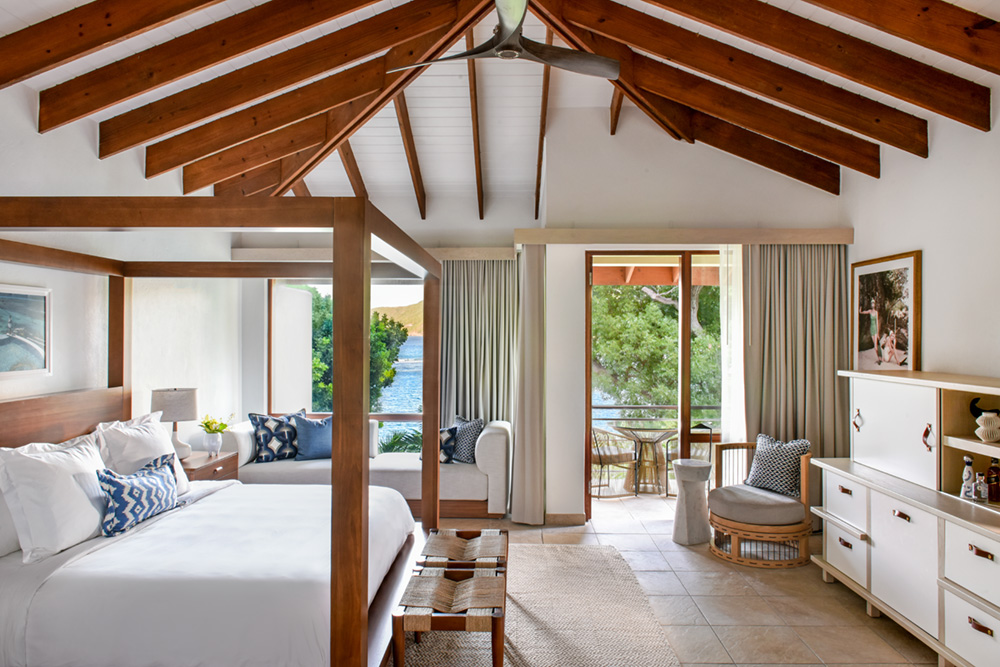 A revamped Junior Suite at Little Dix Bay