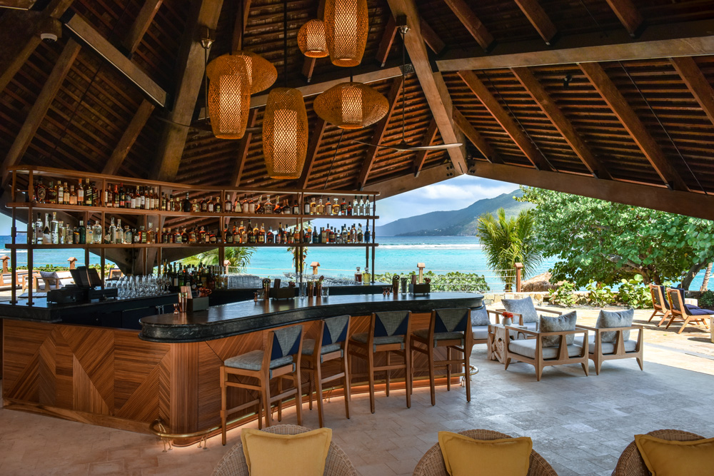 Bar area at Little Dix Bay