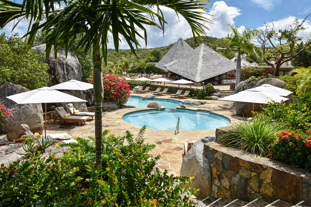 Main pool at Rosewood Little Dix Bay