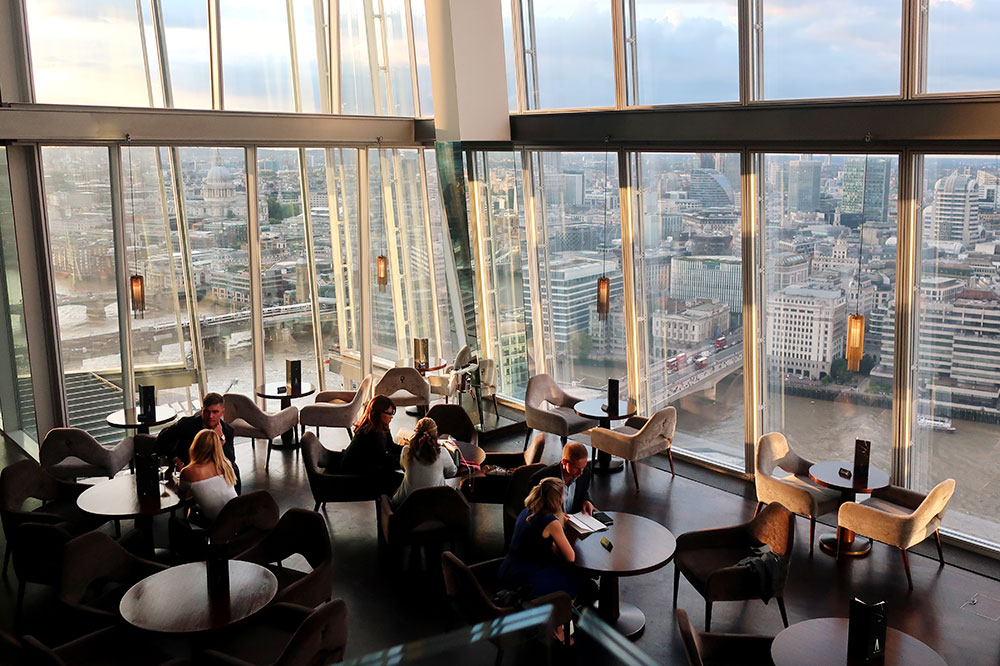 The view from the dining room at Aqua Shard in London