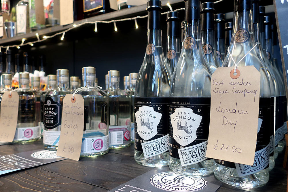 Gins at the East London Liquor Company at the Borough Market