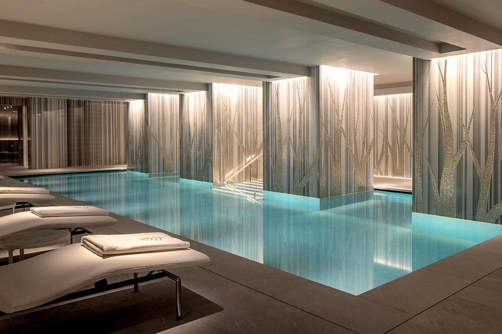 The spa's pool at the Four Seasons Hotel London at Ten Trinity Square