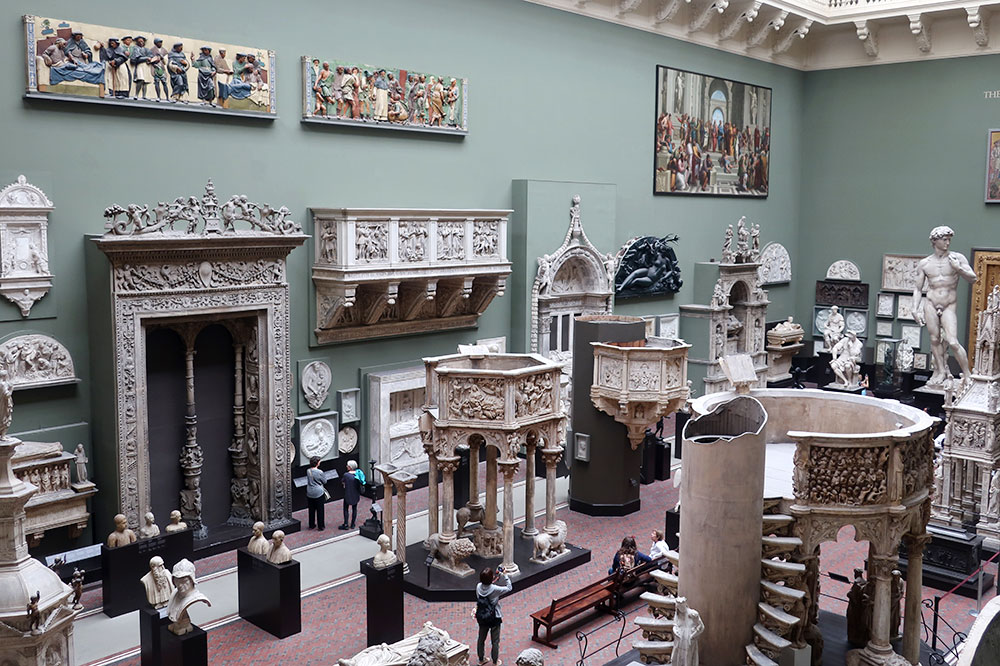 The newly renovated Cast Court at the Victoria and Albert Museum