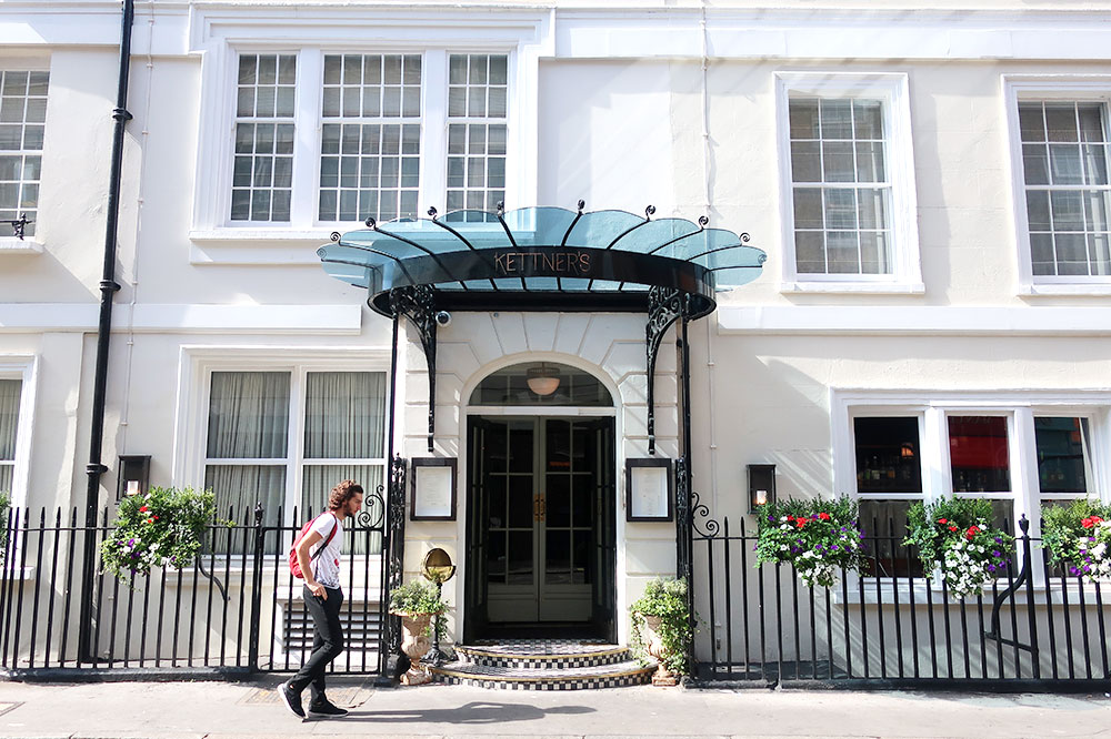 The entrance to Kettner's Townhouse