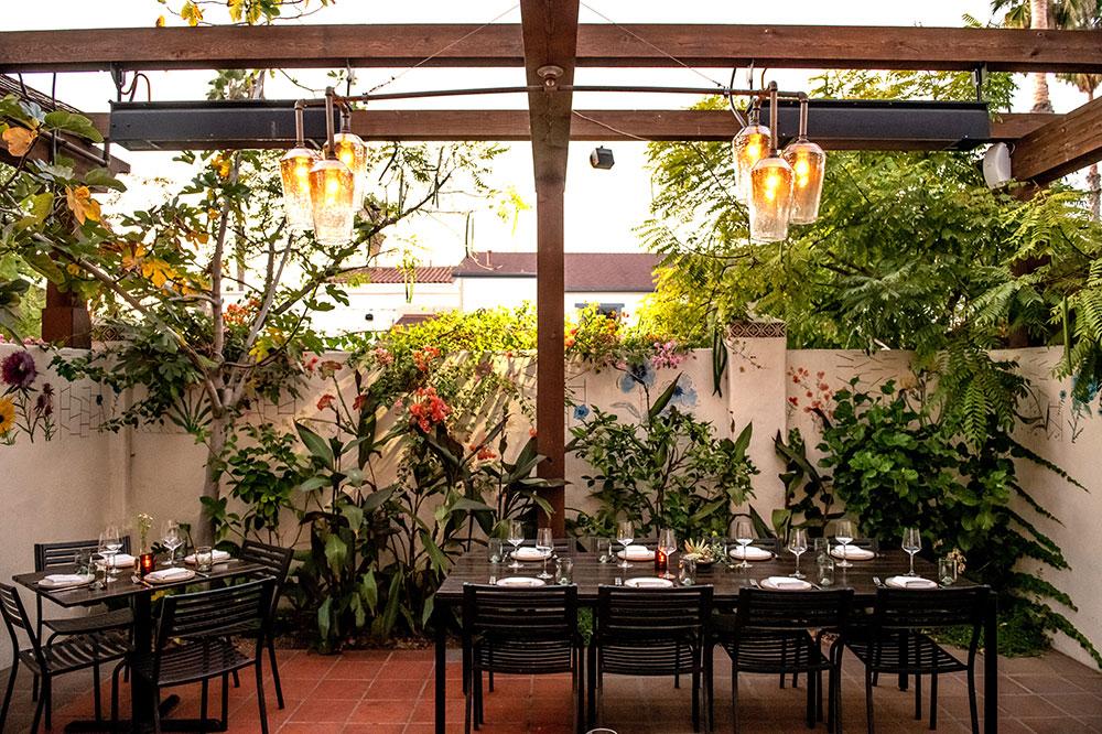 The patio at Loquita