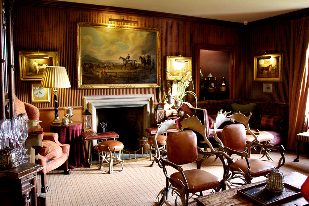 A lounge in Prestonfield House