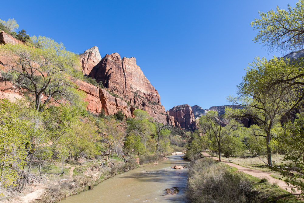 View from the Emerald Pools trailhead