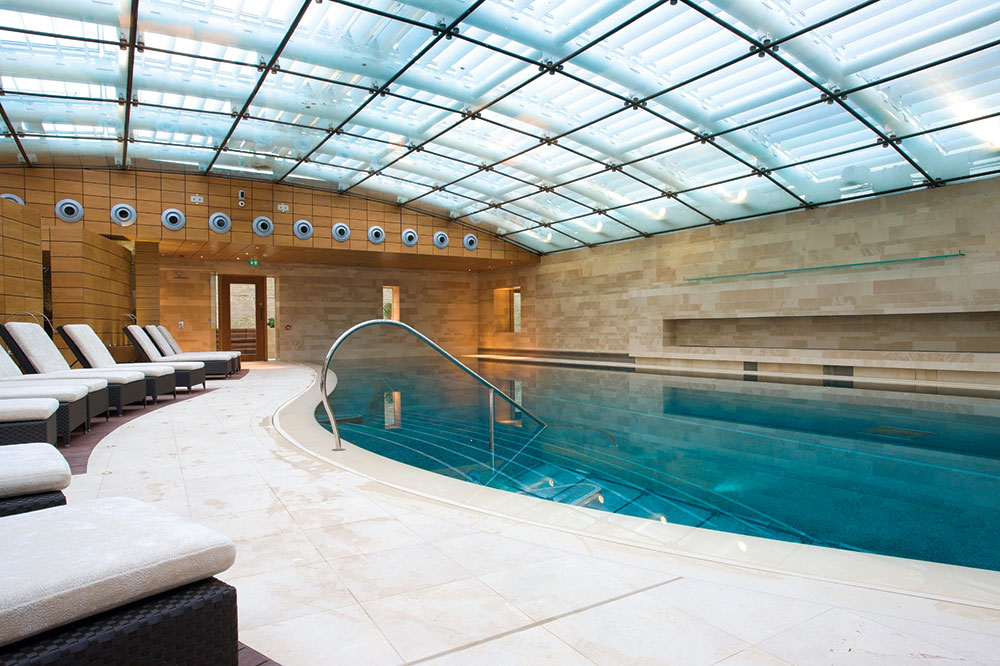 Spa pool at Lucknam Park Hotel & Spa in Wiltshire, England
