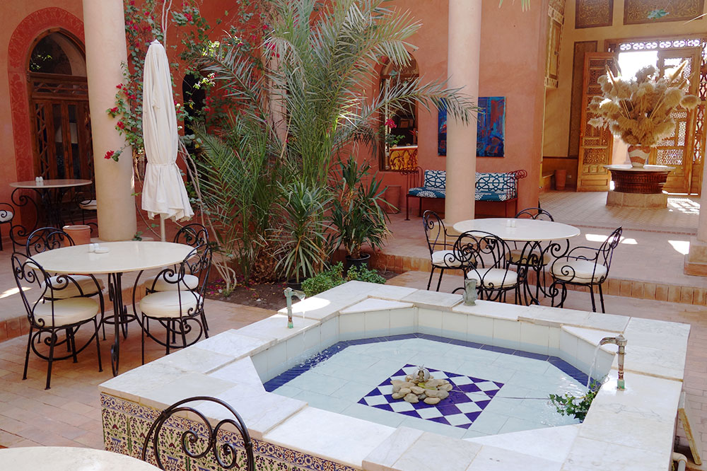 The Pool Pavilion restaurant at Al Moudira