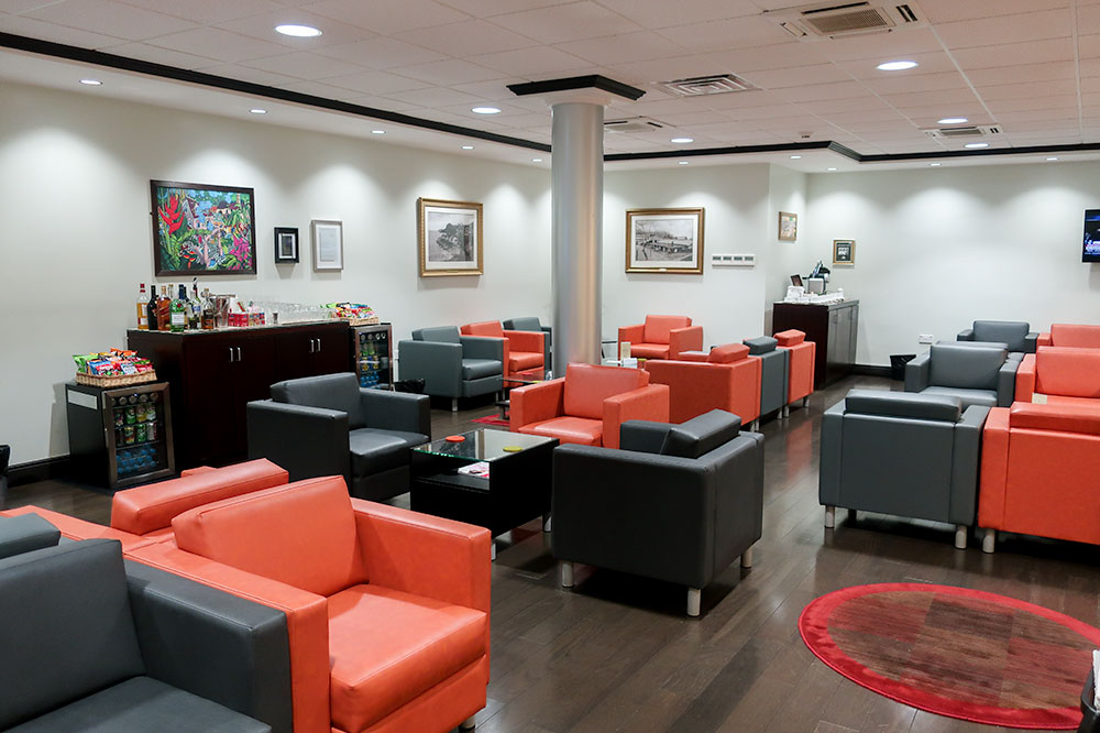 The main lounge at the IAM Jet Centre