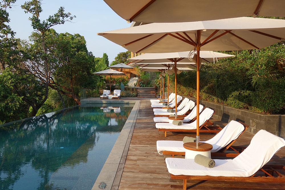 The main pool at Six Senses Krabey Island
