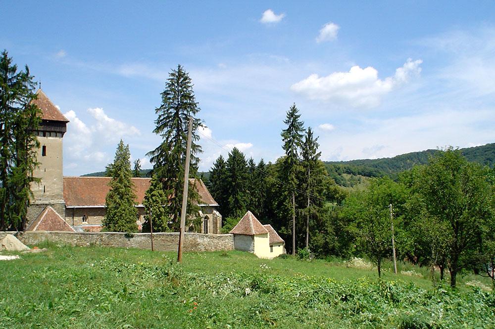 The fortified church in Mălâncrav, Romania
