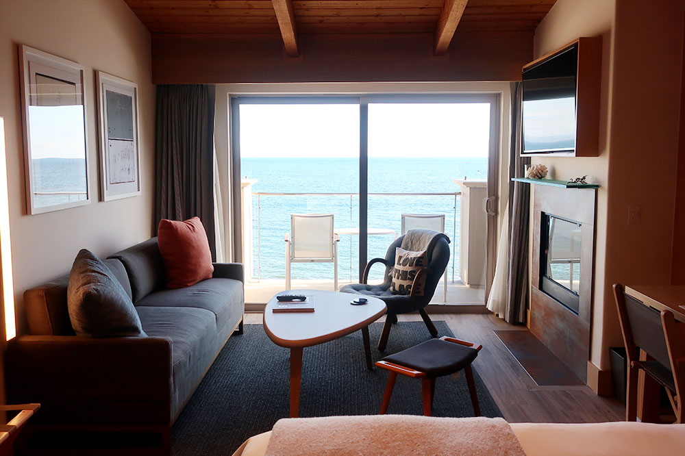 The view of the ocean from our King Premier Ocean Front room at the Malibu Beach Inn