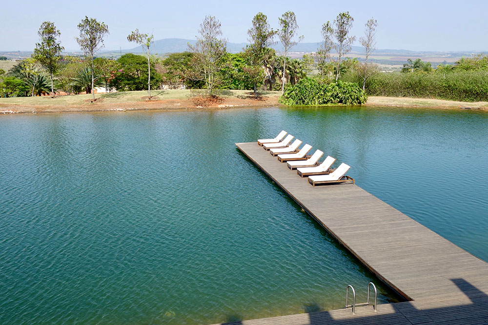 The man-made lake at Fasano Boa Vista