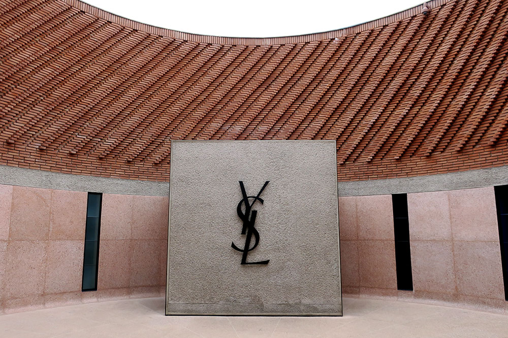 The entrance to Museé Yves Saint Laurent in Marrakech, Morocco