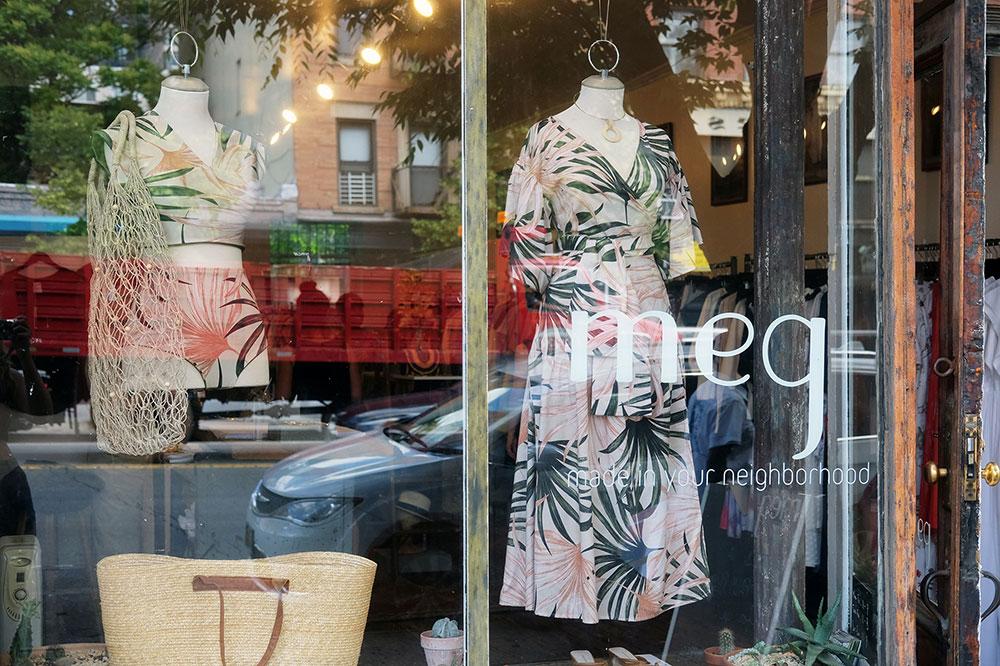 Meg clothing store on Atlantic Avenue