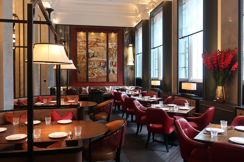 Mei Ume restaurant at the Four Seasons Hotel London at Ten Trinity Square