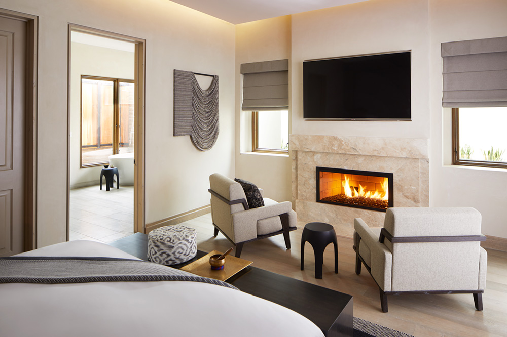 Bedroom in a residence at The Retreat at Miraval Arizona