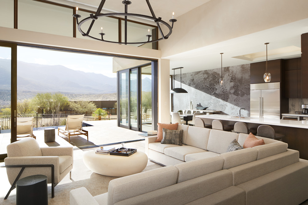 Great room in a residence at The Retreat at Miraval Arizona